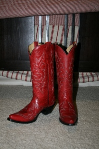 My new red boots!